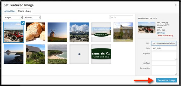 Set-featured-image-library
