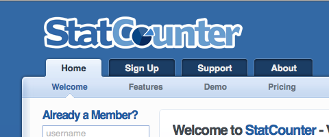 How to check your visitor stats with Statcounter