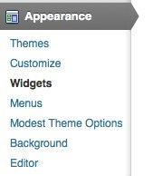 Appearance-menu