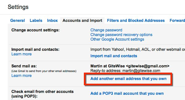 Gmail setup add