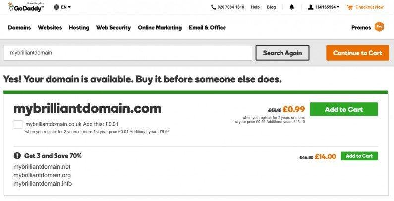 Buy domain 1