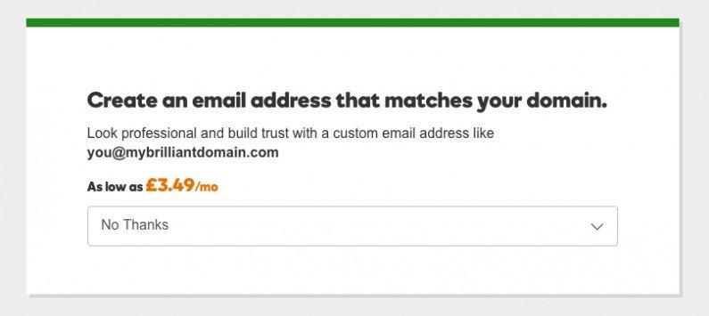 GD create an email address