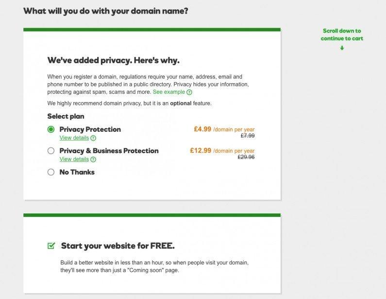 Privacy pre-added
